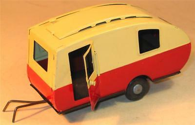 TRI-ANG MINIC CLOCKWORK No 16M CARAVAN.RED AND CREAM 1950s.EXCELLENT CONDITION