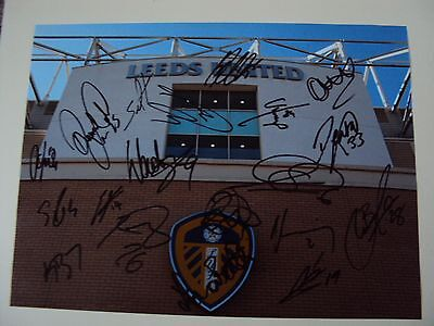 16x12 hand signed photo LEEDS UNITED 2016-2017 squad X19 BARTLEY DALLAS GREEN
