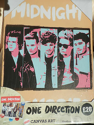 Case of 12 One Direction Art Canvas 6 Different Designs x 2 Of Each  33cm x 46cm