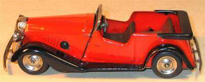 TRI-ANG MINIC CLOCKWORK No 17M VAUXHALL TOURER. IN RED BODY AND BLACK CHASSIS