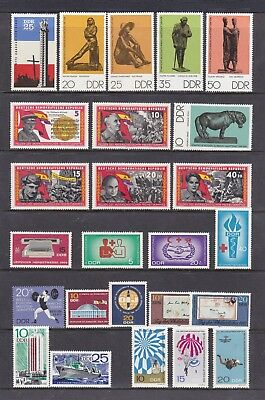 Germany- Ddr (1) - Another Good Lot Of 25 Mnh + Mounted Mint Stamps - See Scan.