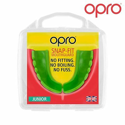 OPRO Snap-Fit Gum Shield No Fitting, No Boiling, No Fuss KIDS Mouth guard JNR