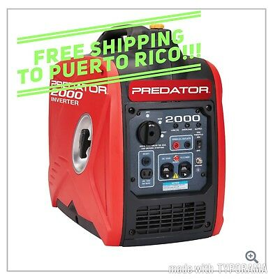 2000 Watt Generator Inverter, Super Quiet, Super Light Easy To Carry Ship To PR