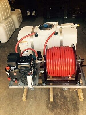 SKID SPRAYER 50 GL w/ LCT 5.0HP ENG WITH HYPRO 4101C PUMP 250' 1/2' HSE & REEL