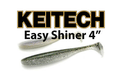 """Keitech Easy Shiner 4"""" soft body paddle tail swimbait bass lure"""