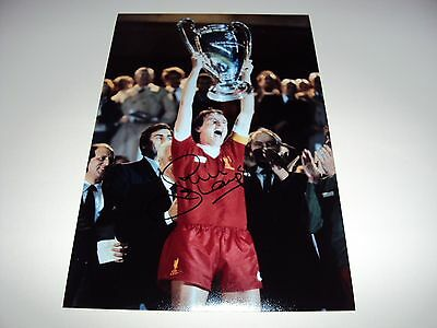 Hand signed 12x8 LIVERPOOL photo 1981 European Cup Final Phil Thompson Anfield