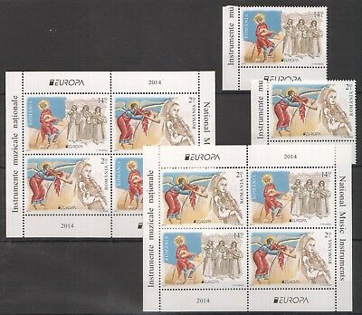 E1018 2014 Romania Art National Music Instruments !!! Michel 65 Euro 2Kb+Set Mnh
