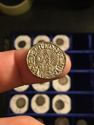 Aethelred Hammered Silver Coin Penny Voided Long Cross
