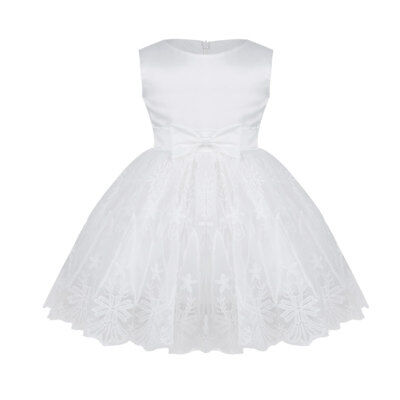 White Christening Baby Princess Girls Dress Bridesmaid Wedding Party Kids Clothe