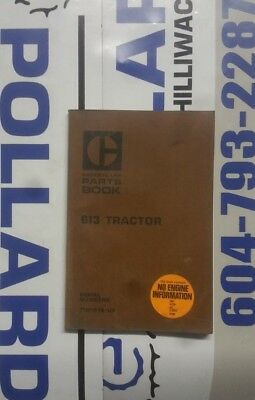 Caterpillar 613 Tractor Parts Manual. S/N: 71M1378-Up