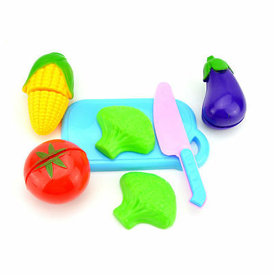 Kid Kitchen Fruit Vegetable Food Pretend Role Play Cutting Set Toys Affordable ~