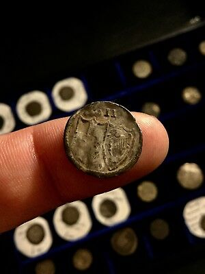 Commonwealth Half Groat X2 Hammered Silver Coin