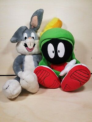 Looney Tunes Plush Lot Marvin the Martian and Bugs Bunny Sugar Loaf