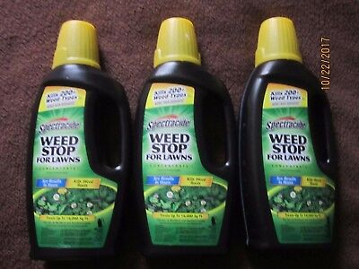 3x Spectracide Weed Stop for Lawns Concentrate 32 oz each FREE SHIP