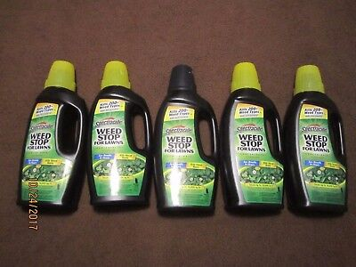 5x Spectracide Weed Stop for Lawns Concentrate 32 oz each FREE SHIP