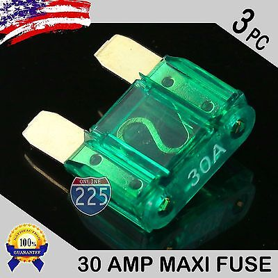 3 Pcs 50A AMP Platinum Plated Large Audio Blade MAXI Fuse 12V 24V 32V Auto RV US