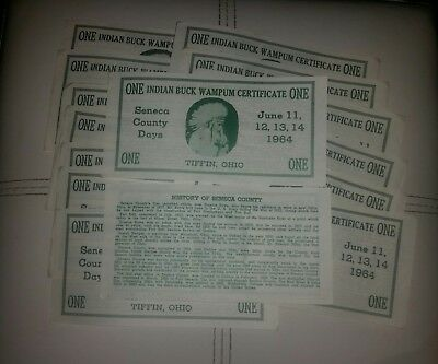 15 1964 tiffin ohio $1 history certificates seneca county