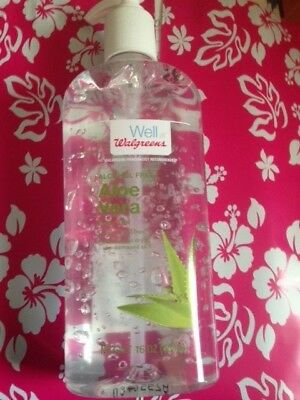WELL AT WALGREENS ALCOHOL FREE Aloe Vera Body Gel PUMP Cooling & Soothing  16 OZ