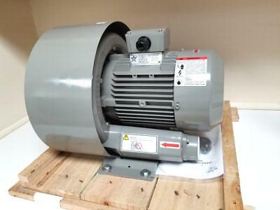 """REGENERATIVE BLOWER  2.5 HP MAX 105CFM/120"""" H2O  3PH 208-460 50/60HZ OUTLET AorB"""
