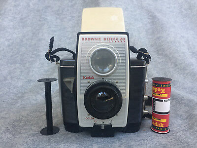 Vintage Kodak Brownie Reflex 20 Camera w/ Exposed Film in Mint Condition