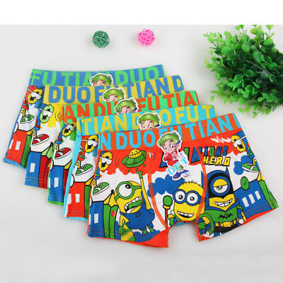 Wholesale 5pcs  Children's  Cartoon Underwear  Cotton Boxer Briefs Boy