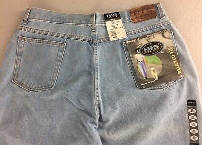 Vintage H.I.S For Her Mom Jeans Relaxed High Waist Straight Leg Misses 20 Tall