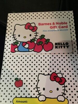 Barnes & Noble Books ~ HELLO KITTY Collectible Gift Card NO $ VALUE New w Backer