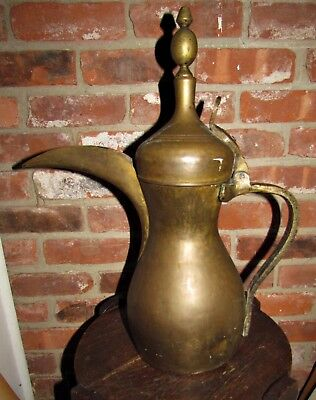 large antique bedouin middle eastern dallah coffee pot