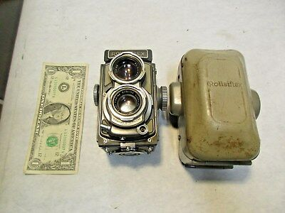 vintage Rolleiflex Franke & Heidecke Gray Baby Film Camera with Case - As Is, NR
