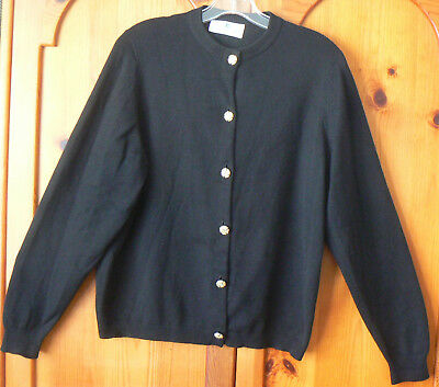 Vintage Ballantyne Made In Scotland Cashmere Sweater Cardigan Gold Buttons