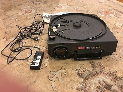 Kodak Carousel 800 Slide Projector No Power Cord...not Tested, use for parts?