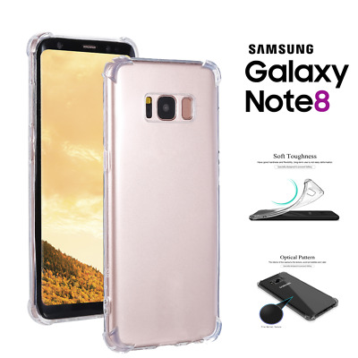 TPU Crystal clear 360°Soft Ultra thin Case Cover For Samsung Galaxy Note 8