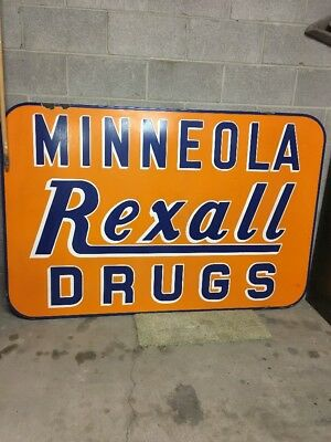 REXALL Porcelain Sign Drug Store Sign Pick Up Only
