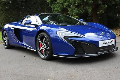 2014 McLaren 650S Spider with Sports Exhaust Petrol blue 7 Speed Automatic