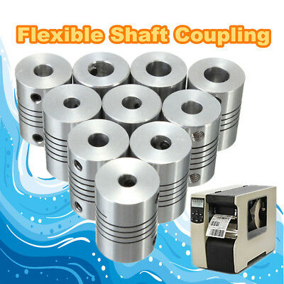 10 Size Tight Flexible Shaft Coupling CNC Stepper Motor Coupler Connector Router