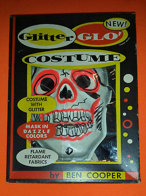 "1950's ""BONEY"" The SKELETON Halloween Costume by Ben Cooper w/ Box"