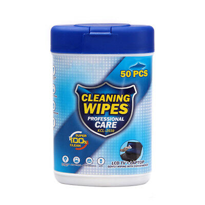 50pcs Soft Laptop Computer Monitor LCD TV Phone Screen Lens Glass Cleaning Wipes