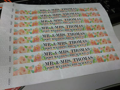 100 Customized Paper Wristbands FULL COLOR