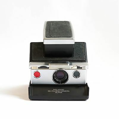 Polaroid SX-70 Alpha Instant Camera (Black/Chrome)