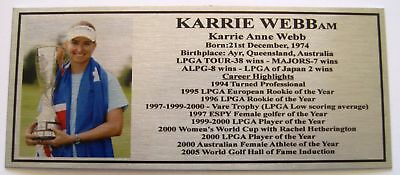 Karrie Web Gold or Silver Sublimated Plaque f/post