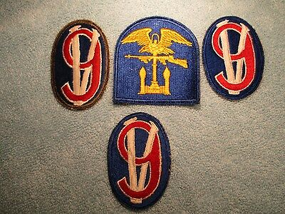 US Army WW2 95th Infantry Division Patch (3), US Navy Amphibious Units, Lot