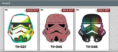 Topps Star Wars Card Trader Full 46 Card White Tk Set With All 3 Awards!!!!!!