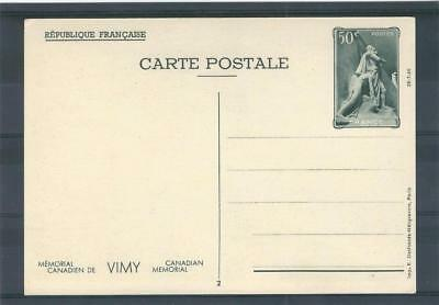 France 1936 Unused Postal Stationery Card Canadian Memorial Vimy See