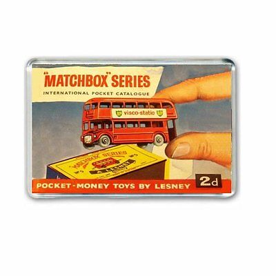 RETRO 1960's  MATCHBOX CATALOGUE' ARTWORK JUMBO FRIDGE  / LOCKER MAGNET