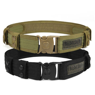 FREE SOLDIER Men's Military Belt with Buckle Tactical Belt Army Training Belt