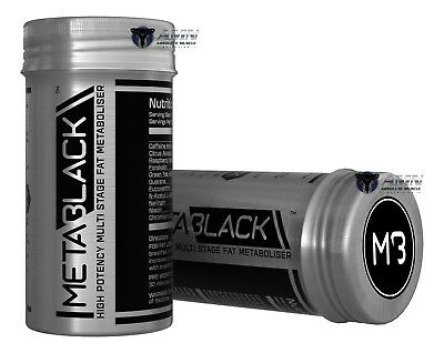 MetaBlack- M3 - 60 Capsule x 2  - High potency Fat Metaboliser