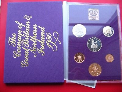 1980 Proof Set Of Decimal Coinage Of Great Britain & Northern Ireland