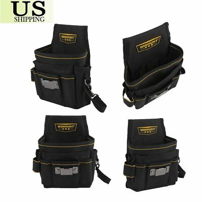 Tool Pouch Belt Bag 8 Pocket Slot  Storage Holder Electrician Electrical USA EKK