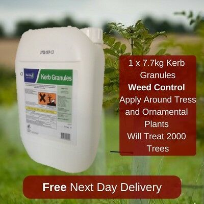 Kerb Granules 7.7Kg Long Term Weed Control Around 1000 Trees Shrubs Or Bushes
