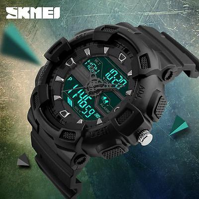 Skmei Orologio da Uomo Led Digitale Data Impermeabile Sport Analogico Militare